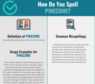 Correct spelling for pinecone