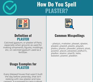 Correct spelling for plaster