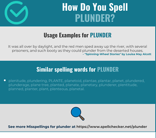 Correct spelling for plunder