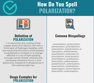 Correct spelling for polarization