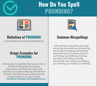 Correct spelling for pounding