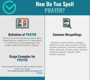 Correct spelling for prayer