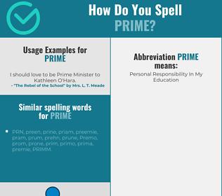 Correct spelling for prime