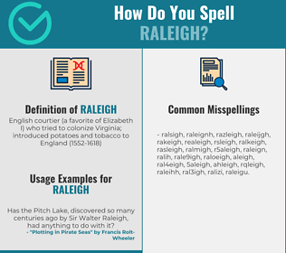 Correct spelling for raleigh