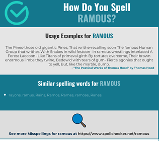 Correct spelling for ramous