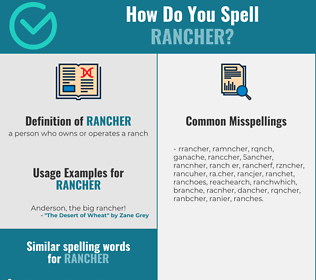 Correct spelling for rancher