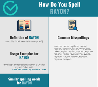 Correct spelling for rayon