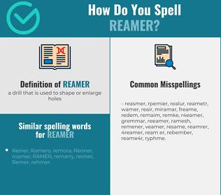 Correct spelling for reamer