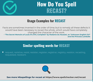 Correct spelling for recast