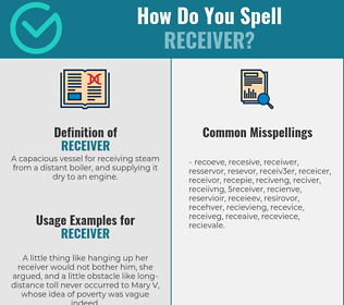 Correct spelling for receiver