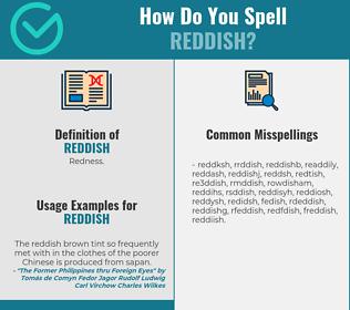 Correct spelling for reddish