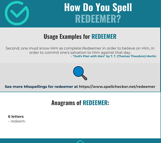 Correct spelling for redeemer