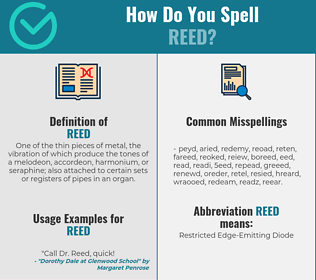 Correct spelling for reed