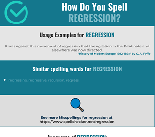 Correct spelling for regression