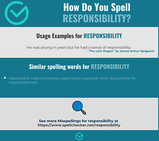 Correct spelling for responsibility