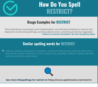 Correct spelling for restrict
