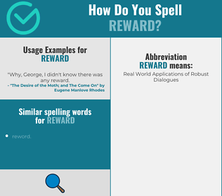Correct spelling for reward