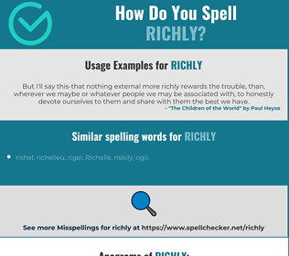 Correct spelling for richly