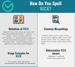 Correct spelling for rick