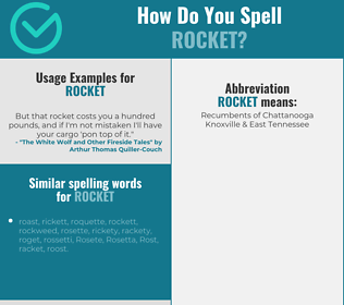 Correct spelling for rocket