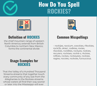 Correct spelling for rockies