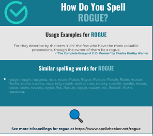 Correct spelling for rogue