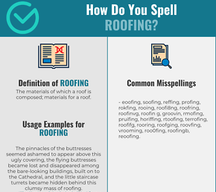 Correct spelling for roofing