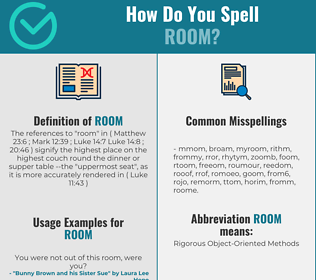 Correct spelling for room