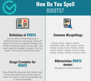 Correct spelling for roots