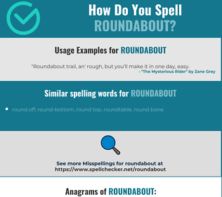 Correct spelling for roundabout