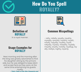 Correct spelling for royally