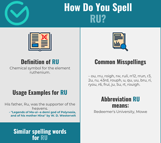 Correct spelling for ru
