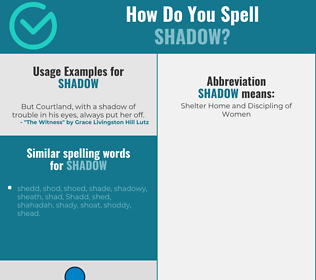 Correct spelling for shadow