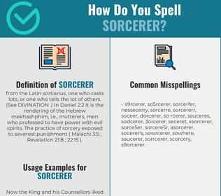 Correct spelling for sorcerer
