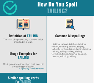 Correct spelling for tailing
