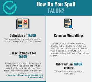 Correct spelling for talon