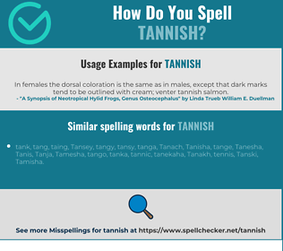 Correct spelling for tannish