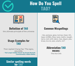 Correct spelling for tao