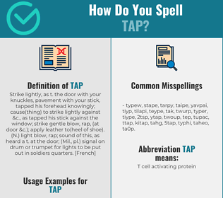 Correct spelling for tap
