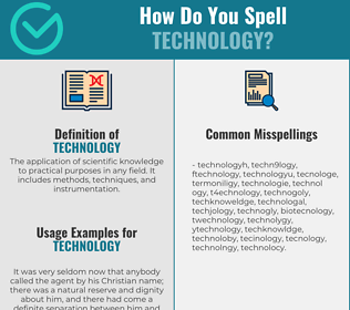 Correct spelling for technology