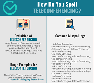 Correct spelling for teleconferencing