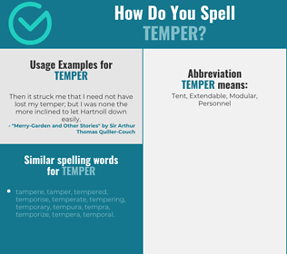 Correct spelling for temper