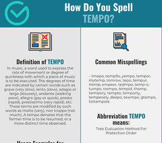 Correct spelling for tempo