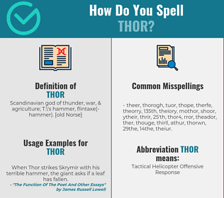 Correct spelling for thor