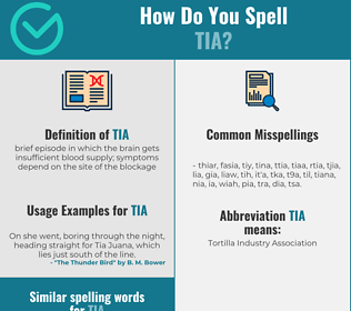 Correct spelling for tia