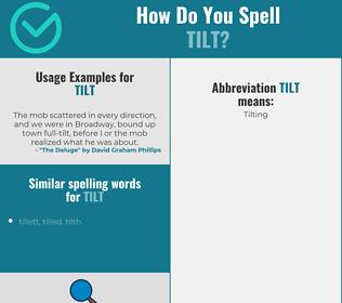 Correct spelling for tilt