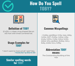 Correct spelling for toby