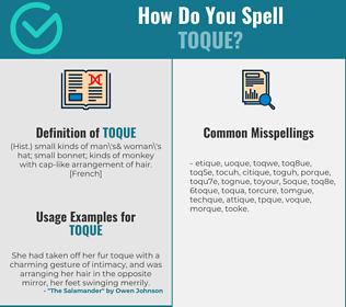 Correct spelling for toque