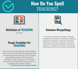 Correct spelling for tracking