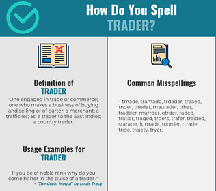 Correct spelling for trader